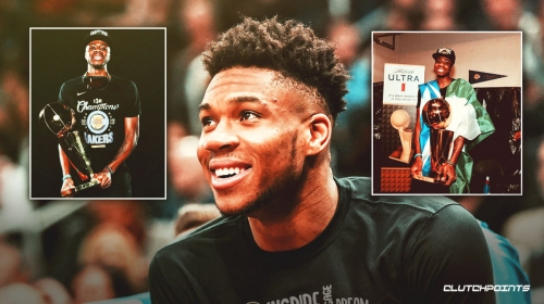Bucks star Giannis Antetokounmpo congratulates brother Kostas on winning NBA title with Lakers