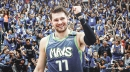 Luka Doncic's All-NBA 1st team selection commemorated with downtown Dallas mural