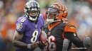 VIDEO: Ravens star Lamar Jackson hilariously admits to flopping vs. Bengals