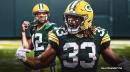 VIDEO: Aaron Jones crosses the plane to give Packers double-digit score vs. Buccaneers
