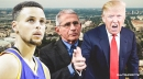 Video: Stephen Curry talks to Dr. Fauci amid Donald Trump's criticism