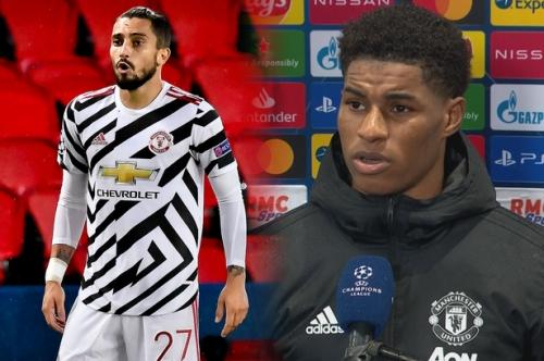 Marcus Rashford praises Alex Telles after Man United beat PSG