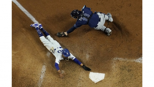 Dodgers take World Series opener as offense stings Rays