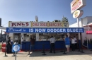 2020 World Series: Pink's Hot Dogs Goes Blue; LAFD Firefighters Permitted To Wear Dodgers Caps While On Duty