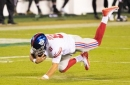Daniel Jones' 80-yard jaunt sets up Giants touchdown, lead 14-10 over Eagles