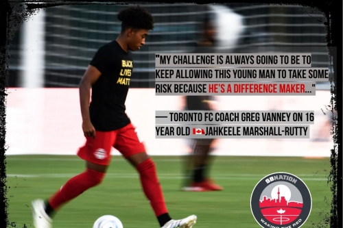 16 year old Marshall-Rutty becomes youngest Toronto FC player to appear in a game