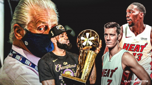 Heat's Pat Riley admits to NBA Finals 'asterisk' due to Bam Adebayo, Goran Dragic injuries