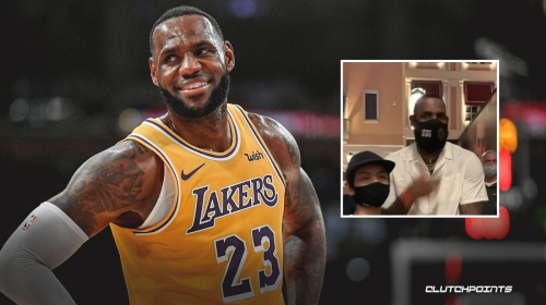 VIDEO: LeBron James' genuine gesture for family who waited 8 hours to see him