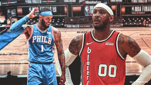 Sixers' Mike Scott becomes vintage Carmelo Anthony for Halloween
