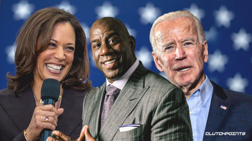 Lakers legend Magic Johnson celebrates Joe Biden-Kamala Harris presidential election victory