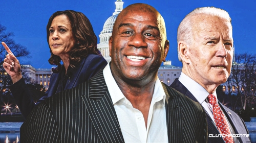 Lakers icon Magic Johnson speaks out on Joe Biden, Kamala Harris' powerful speech