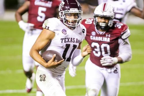 Texas A&M steamrolls South Carolina, 48-3