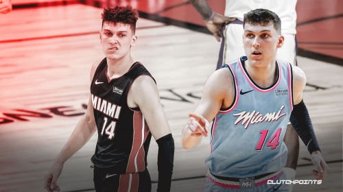 Heat star Tyler Herro shows off epic 'mean mug' shirt while working out