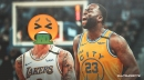 Lakers' Kyle Kuzma admits he nearly puked on Draymond Green during latest workout