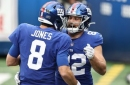 Giants QB Daniel Jones scampers 34 yards for a rushing touchdown