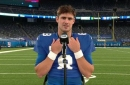 Daniel Jones reflects on Giants' win over Eagles as they climb into NFC East picture