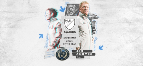 GUIDING LIGHT: Philly's Union named MLS coach of the year