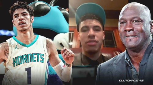 LaMelo Ball addresses Buzz City fans for first time as a Hornets player