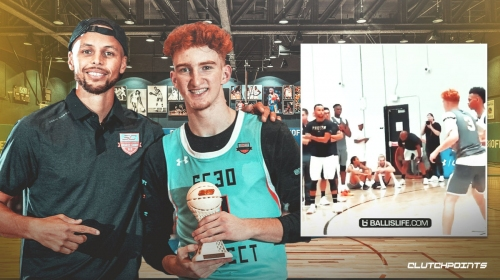 VIDEO: Stephen Curry seen working out Nico Mannion during one of his camps