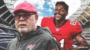Buccaneers coach Bruce Arians reiterates that Antonio Brown is a strike away from getting dropped