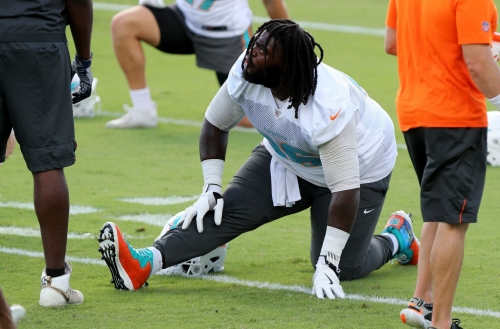 Dolphins starting offensive lineman declared questionable for Sunday's game against Broncos