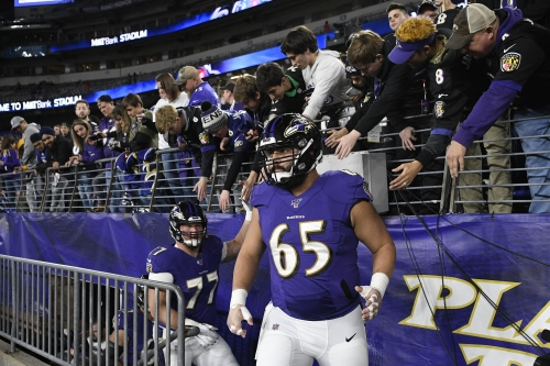 Ravens shuffle offensive line, starting Patrick Mekari at center and Ben Powers at right guard