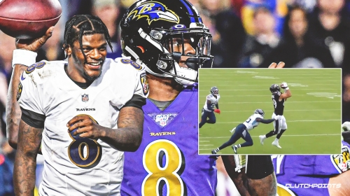 Brilliant Lamar Jackson pass on 3rd and 13 sets up Ravens' go-ahead TD in revenge game vs Titans