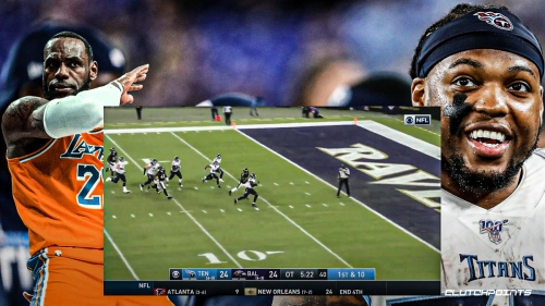 VIDEO: Titans' Derrick Henry walks off Ravens with 29-yard TD run; LeBron James reacts