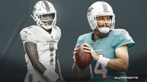 Dolphins' Ryan Fitzpatrick replaces Tua Tagovailoa in 4th quarter vs Broncos