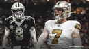 Saints' Taysom Hill reflects on first career start with Drew Brees injured