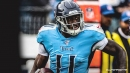 Titans WR AJ Brown stunned by Ravens' John Harbaugh causing a ruckus before game