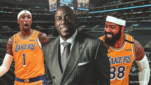 Magic Johnson reacts to Lakers re-signing Kentavious Caldwell-Pope, Markieff Morris
