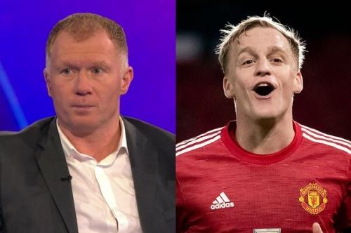 Paul Scholes names Donny van de Beek's best position for Man United