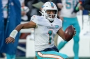Dolphins QB Tua Tagovailoa has hand injury, which Brian Flores isn't 'too worried about' before Jets game