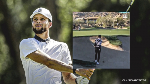 VIDEO: Warriors' Stephen Curry slaps clutch bunker shot on the green next to the pin in 'The Match 3'