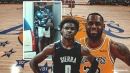 LeBron James flexes unreleased Nikes after workout with son Bronny