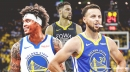 Warriors' Stephen Curry reacts to Golden State trading for Kelly Oubre Jr. after Klay Thompson injury
