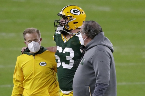 Packers center Corey Linsley has sprained MCL, per report