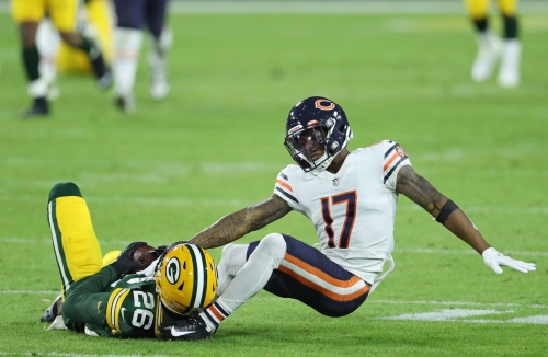 Chicago Bears' loss to rival Green Bay Packers on 'Sunday Night Football' averages a 23.7 household rating in their home TV market