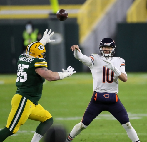 Chicago Bears QB rewind: Turnovers, mental errors, a lopsided loss — and pity from the national broadcast. Inside Mitch Trubisky's return.