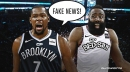 Nets star Kevin Durant calls fake news on rumors he's trying to recruit James Harden