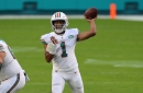 Start an injured Tua or roll with Ryan Fitzpatrick? Dolphins' Brian Flores has final say in decision