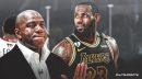 Magic Johnson reacts to LeBron James' 2-year extension with Lakers