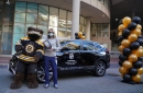 Pastrnak donated his All-Star Game car to a nurse at Tufts Medical Center