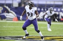 Ravens' Calais Campbell returns to practice while Jimmy Smith, Marcus Peters remain sidelined; Hollywood Brown sits out with knee injury