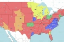 Week 16 TV coverage map
