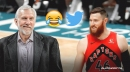 VIDEO: Spurs coach Gregg Popovich hilariously reacts to hearing about Aron Baynes Twitter fan club