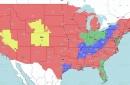 Week 17 TV coverage map