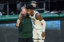 Michigan State basketball's Tom Izzo: Rocket Watts at shooting guard is best for us now