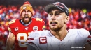 George Kittle reacts to Travis Kelce breaking his NFL record